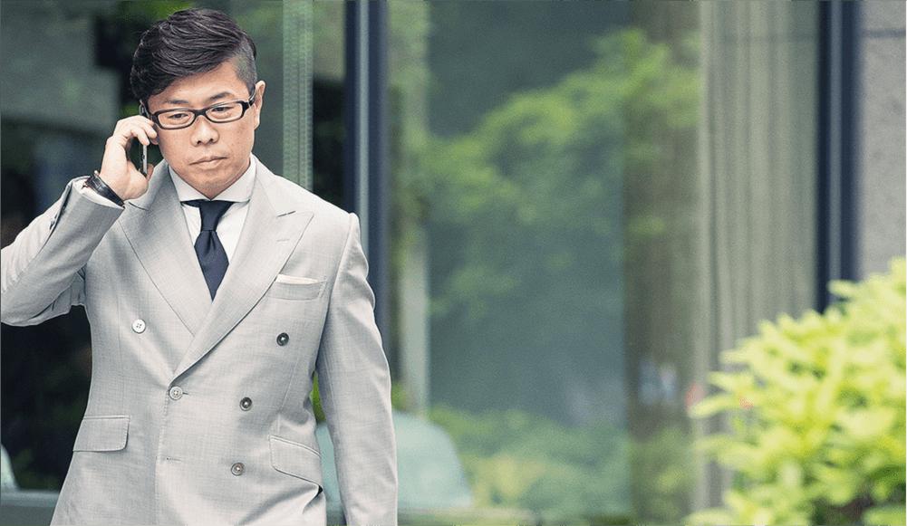 ビジネススーツをオーダーされた高橋さん